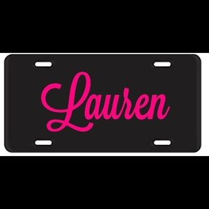 Custom Name license plate